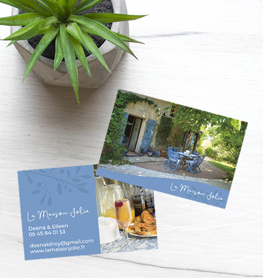 France Bed & Breakfast Business Card Design