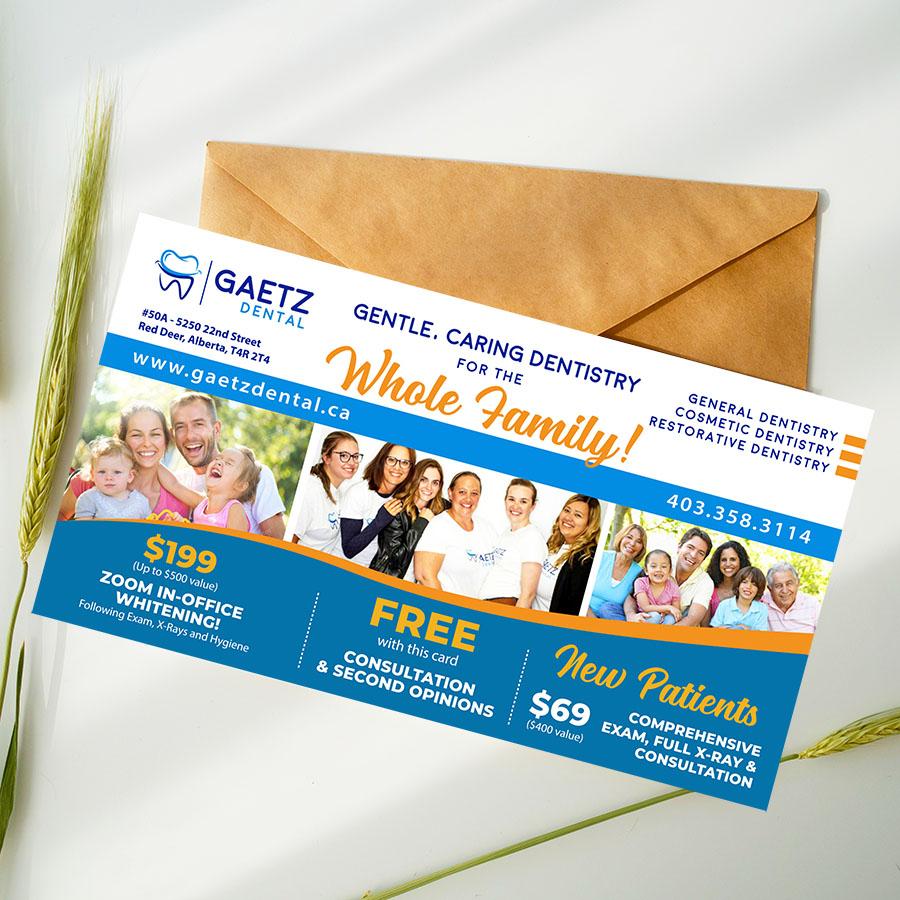 Dental Clinic Postcard Graphic Design Canada