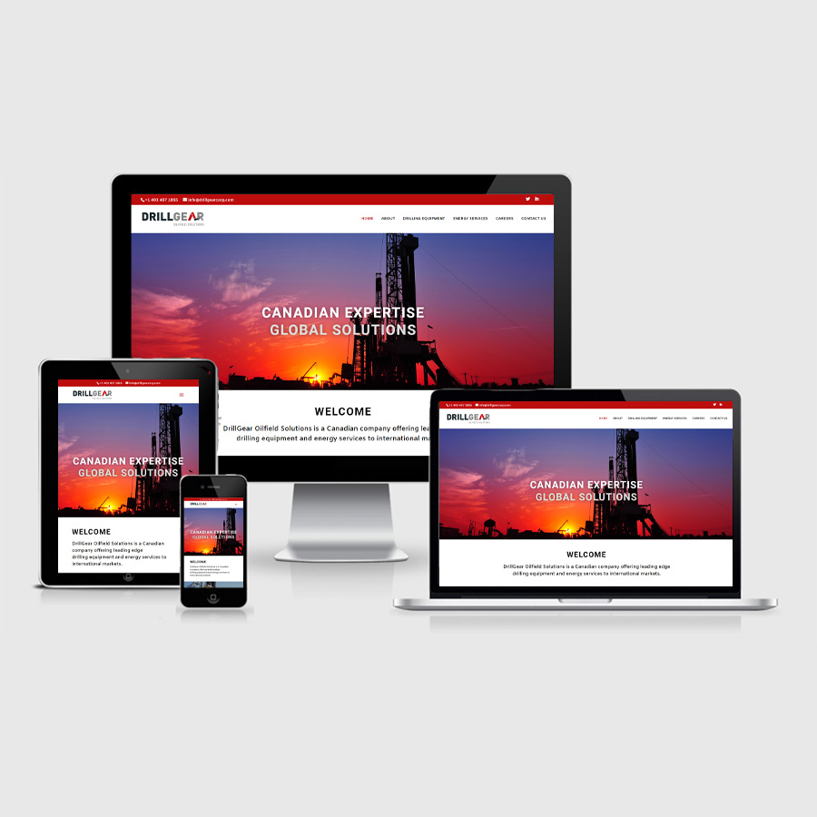 Canadian Oil and Gas Website Development